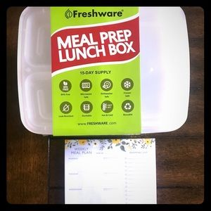Other - NEW, Never opened, plastic meal prep containers